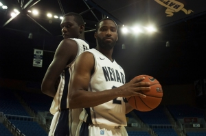 Nevada seniors Jerry Evans Jr. (left) and Deonte Burton (right) will be relied on heavily this year. Evans has been a defensive stalwart for the Wolf Pack and Burton is a scoring maestro, but they both need to pick up their teammates in order for Nevada to be a contender in its Mountain West sophomore season. Kaitlin Oki/Nevada Sagebrush